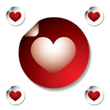 Heart sticker Stock Images