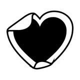 Heart sticker icon Royalty Free Stock Photo