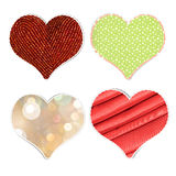 Heart stickers Stock Images