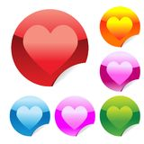 Heart stickers Stock Photography