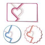 Heart stickers Stock Image