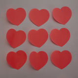 Heart stickers. Background made of red heart stickers Stock Photos