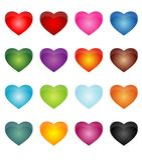 Heart Stickers Royalty Free Stock Photos