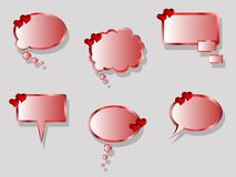 Heart stickers Royalty Free Stock Photos