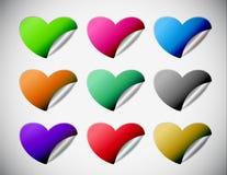 Heart stickers design Stock Photo