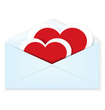 Heart stickers envelope vector Stock Photography