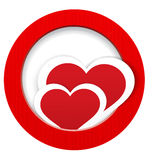 Heart stickers in and out frame vector Stock Photo