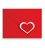 Heart stickers red envelope vector Royalty Free Stock Photos