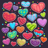 Heart stickers set Stock Images