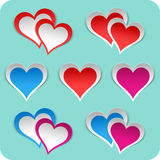Heart stickers set. Stock Images