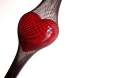 Heart in a stocking Royalty Free Stock Photos