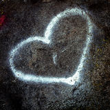 Heart on stone Royalty Free Stock Image