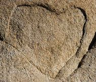Heart of Stone. A natural outline of a heart on a rock face Stock Photos