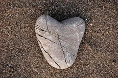 Heart of stone Stock Photography