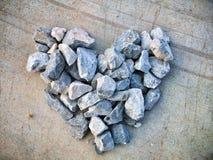 Heart stone Stock Image