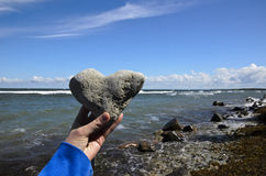 Heart of stone. Baltic sea in summer Royalty Free Stock Image