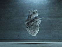 Heart of stone. 3d render. Heart of stone. This image created in entirety by me and is entirely owned by me and is entirely legal for me to sell and distribute Royalty Free Stock Image