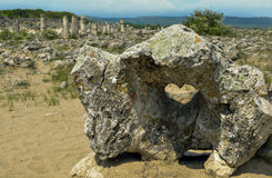 Heart of stone. Hole in the rock reflected sunlight as heart Royalty Free Stock Photo