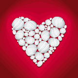 Heart of Stone Illustration. Heart of Stone Vector Illustration in deep red background Royalty Free Stock Image