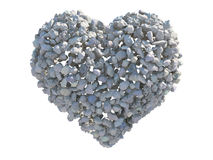 Heart of stone. Illustration of a heart of stone Stock Photos