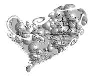 Heart. Stone isolated heart. Royalty Free Stock Photography