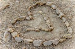 Heart of stone. stock image