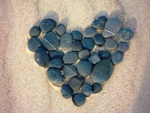 Heart of stone Royalty Free Stock Photos