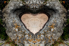 Heart of stone. Mount of a stone heart Royalty Free Stock Photos