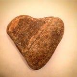 Heart of Stone. Heart shaped stone rock natural Stock Photo