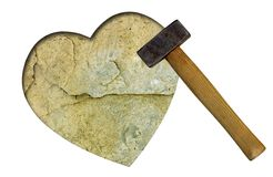 Heart of stone - unrequited love concept Stock Images