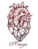 Heart of stone vector illustration. Royalty Free Stock Photos