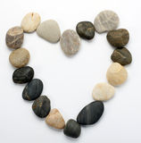 Heart from stones Stock Images