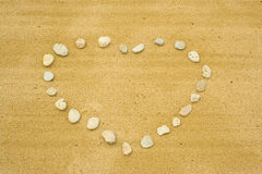 The heart  of stones on the sa Royalty Free Stock Photo