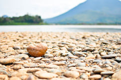 Heart , stones. Stone heart shape at Kaeng Kud Kuu, loei Stock Photos