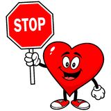 Heart with Stop Sign Stock Photo