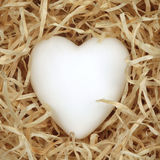 Heart on the straw Stock Photo