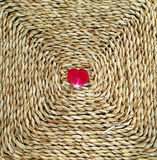Heart on Straw Stock Image