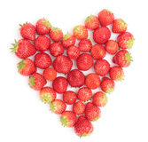 Heart of strawberries Royalty Free Stock Images