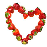 Heart from strawberry Stock Photo