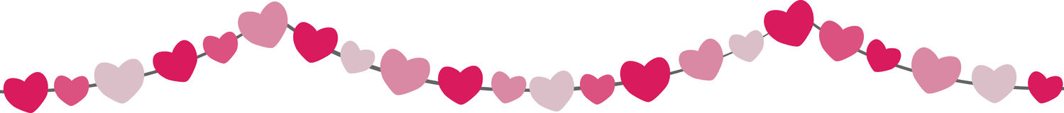 Heart Streamer Royalty Free Stock Images