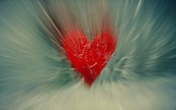 Heart and Ice stretched. Stock Images