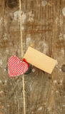 Heart on string Royalty Free Stock Photos