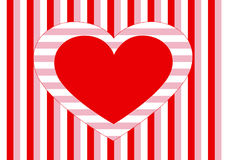 Heart and stripes Royalty Free Stock Images