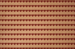 Heart Stripes Recycled/Brown Cardboard/Carton - Textured Royalty Free Stock Image