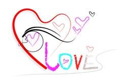 Heart style brush Stock Image