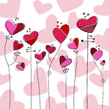 Heart style flowers vector Royalty Free Stock Images
