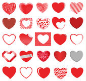 Heart style vector set Royalty Free Stock Photography