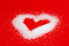 Heart from sugar Royalty Free Stock Photos