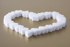 Heart of sugar Royalty Free Stock Photography