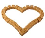 Heart from sugar Stock Photos
